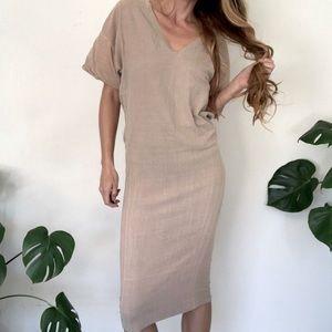 Osklen S Tan Dress BodyCon